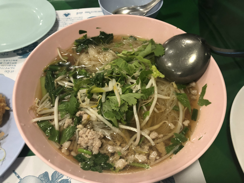名古屋市東区にある「東桜パクチー」に行って、タイ料理を食べてきた バミー(タイ風ラーメン)